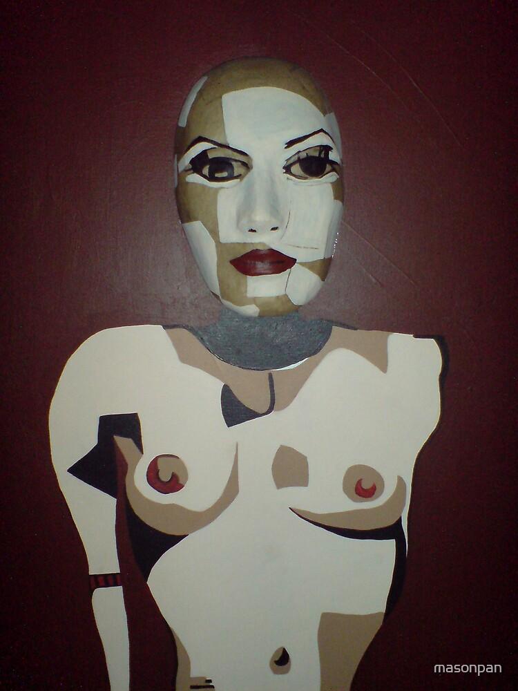 Asbstract woman mask painting by masonpan