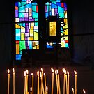 Candles, Relic of the True Cross by Margaret Zita Coughlan