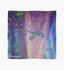 Raindrops - Dragonfly in Flight Scarf