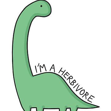 Ilustración de dinosaurio 'Soy un herbívoro' de bloemsgallery