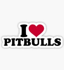 I love Pitbulls Sticker