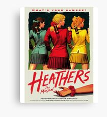 Heathers: The Musical Canvas Print