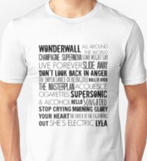 Oasis Songs  Unisex T-Shirt