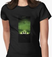 Shooter green planet Womens Fitted T-Shirt