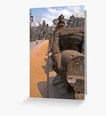 Missing Nagas of Angkor Greeting Card