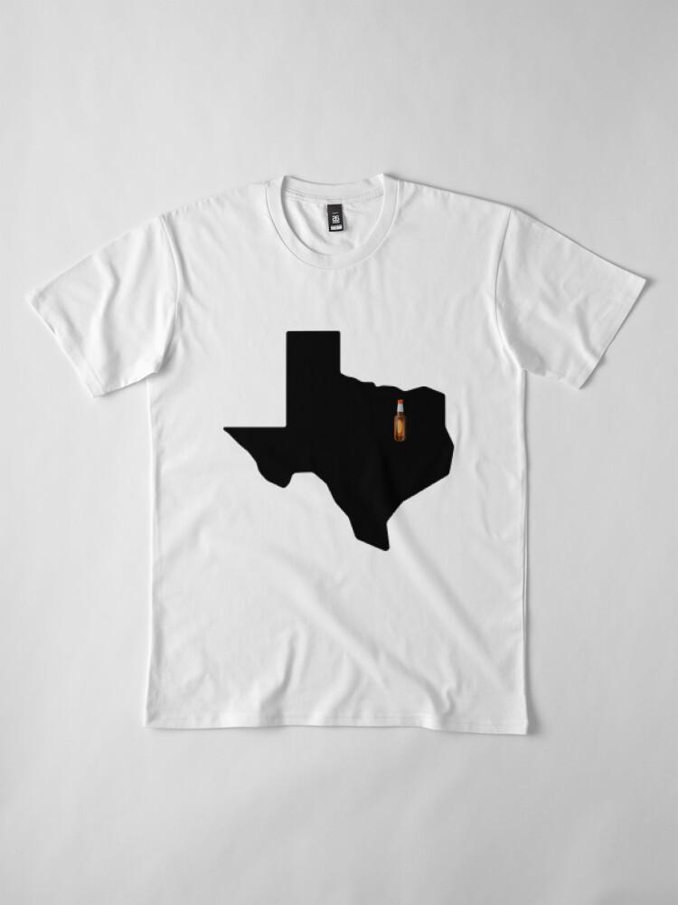 Alternate view of Dallas Texas Beer Premium T-Shirt