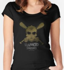 Rancid transplants skull punk Women's Fitted Scoop T-Shirt