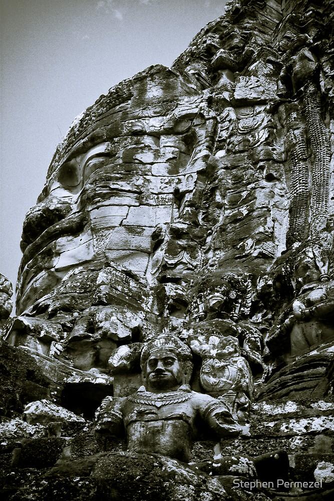 Stoney Faces - Cambodia by Stephen Permezel