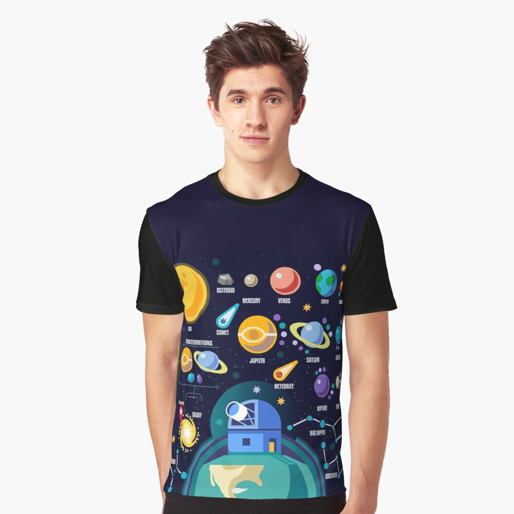 Space Universe Solar Big Bang Graphic T-Shirt Front