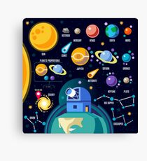 Space Universe Solar Big Bang Canvas Print