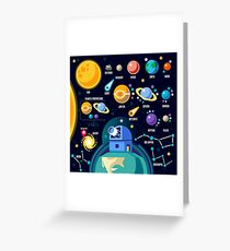 Space Universe Solar Big Bang Greeting Card