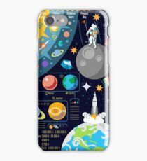 Space Universe Infographics Big Bang iPhone Case/Skin