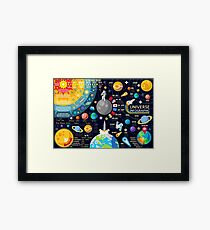 Space Universe Infographics Big Bang Framed Print