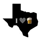 I love texas beer mug by texashandmade
