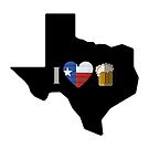 Texas Flag Beer by texashandmade