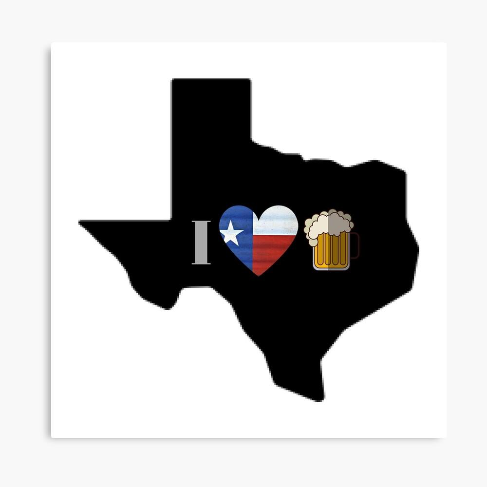Texas Flag Beer Canvas Print