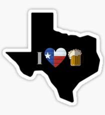 Texas Flag Beer Sticker