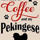 Coffee and my Pekingese by Flaudermoon