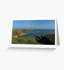 Buchan Ness Lighthouse and the North Sea Greeting Card
