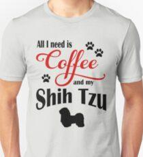 Coffee and my Shih Tzu Unisex T-Shirt