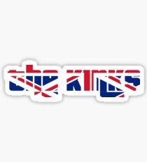 The Kinks Union Jack Design. Sticker