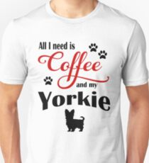 Coffee and My Yorkie Unisex T-Shirt