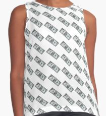 fifty dollar banknote on white background Contrast Tank