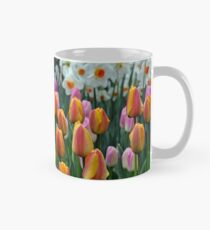 Colorful tulips and daffodils garden Mug