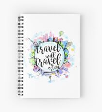 Travel Well, Travel Often Spiral Notebook