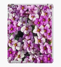 Pink and purple petunia blossoms iPad Case/Skin