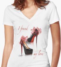 I found my love Women's Fitted V-Neck T-Shirt