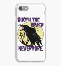 Edgar Allan Poe The Raven Nevermore iPhone Case/Skin