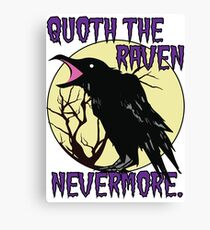 Edgar Allan Poe The Raven Nevermore Canvas Print