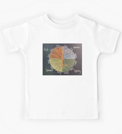 Calendar in the Round Kids Tee