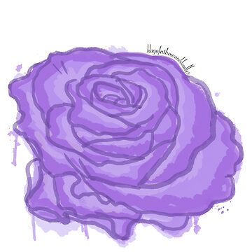 A [Purple] Rose By any Other Name - Watercolour by EloisaRelish