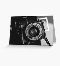 King Penguin Folding Camera Greeting Card