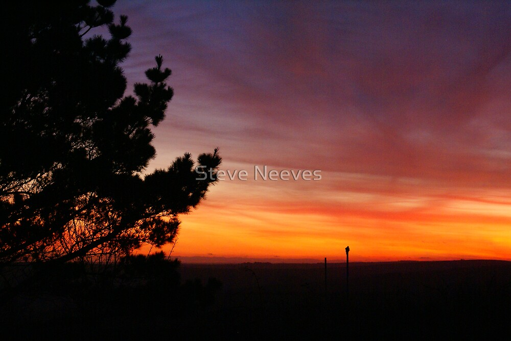 fire in the sky sunset dartmouth by Steve Neeves