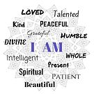 I AM...Positive Affirmation  #affirmation #art #inspirational by Jacqueline Cooper
