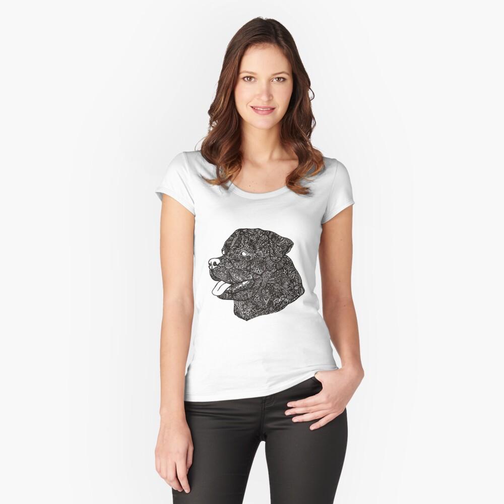 Komplex Rottweiler Tailliertes Rundhals-Shirt