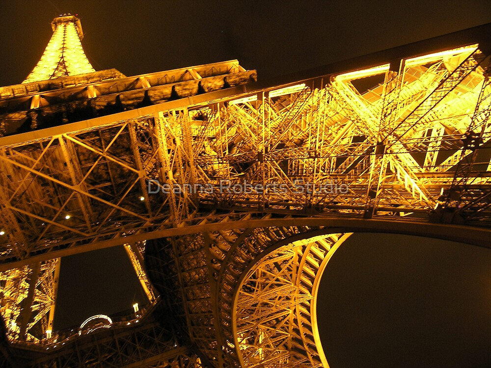 Eiffel Gold - Paris, France by Deanna Roberts Think in Pictures