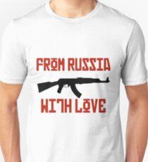 Russia Love AK-47 Gangster kalashnikov Bond T-Shirt