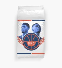 Russell Westbrook and Paul George Duvet Cover