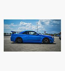 Nissan GTR R34 Skyline V-Spec 2 Photographic Print