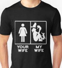 my wife your wife cat t-shirts T-Shirt