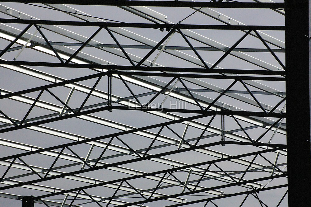 Quot Gym Steel Roof Trusses Quot By Lesley Hill Redbubble