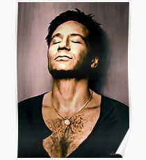 David Duchovny in oil colors Poster