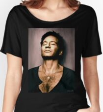 David Duchovny in oil colors Women's Relaxed Fit T-Shirt