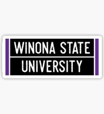 Winona State University Sticker