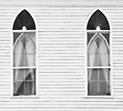 BROKEN GLASS AND NARROW CLAPBOARDS BLACK AND WHITE by Thomas Barker-Detwiler