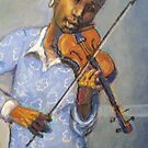 Girl with violin by Fiona O'Beirne